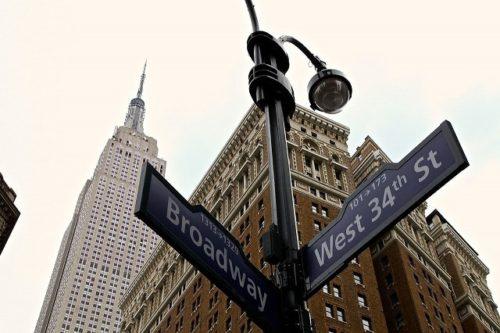ニューヨークのストリート標識