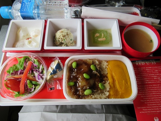 JALのNY行き006便の機内食