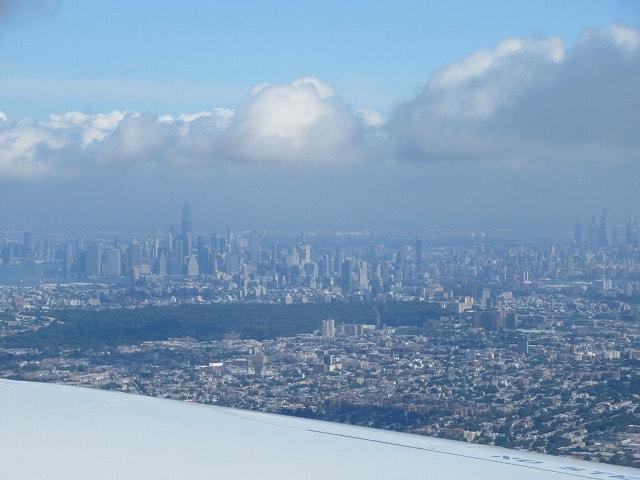 JALのNY便から見るマンハッタン