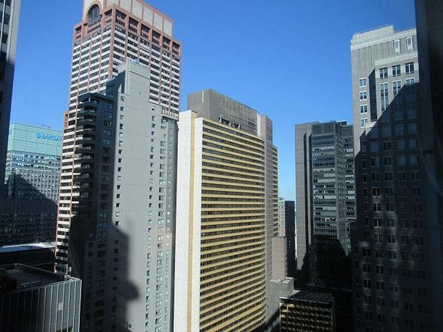 NYヒルトンミッドタウンの部屋からの眺め