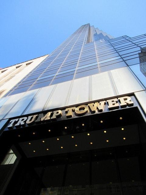 NYトランプタワーの外観