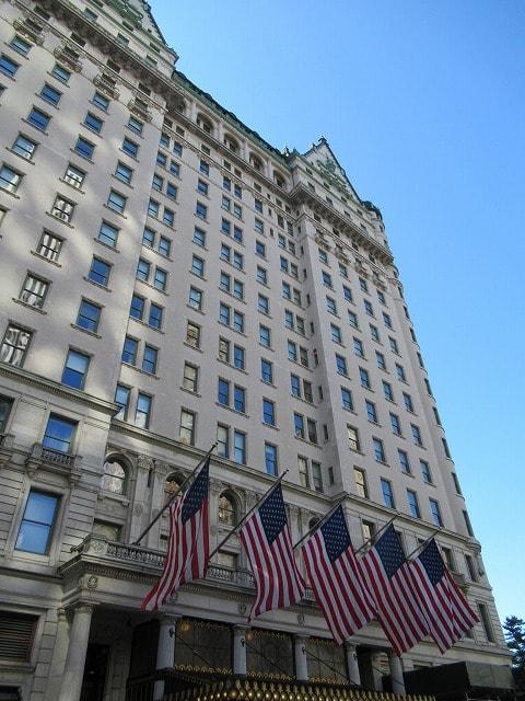 NYザ・プラザホテルの外観