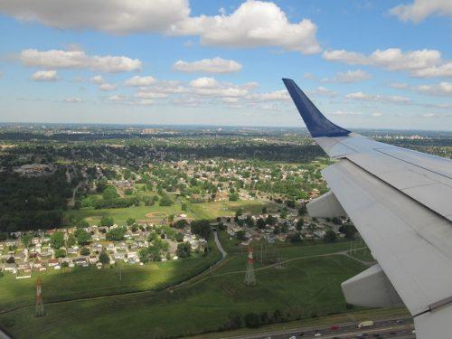JETBLUEの機窓からの景色