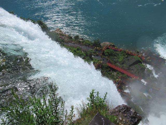 ナイアガラのアメリカ滝の上からの眺め