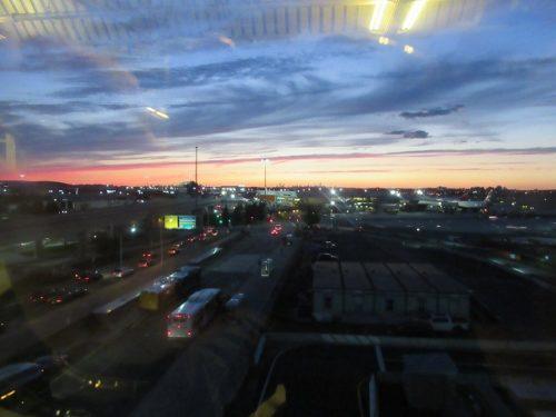 JFK空港の夕焼け
