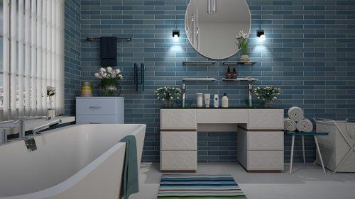 おしゃれな雰囲気のバスルーム
