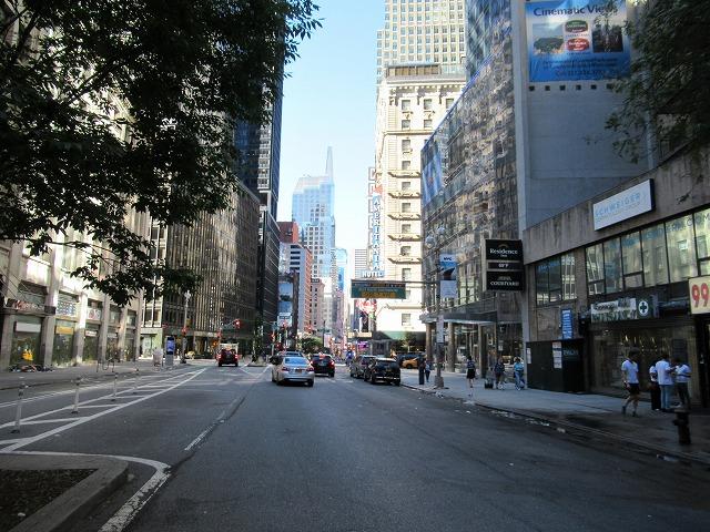 NYCの朝の風景