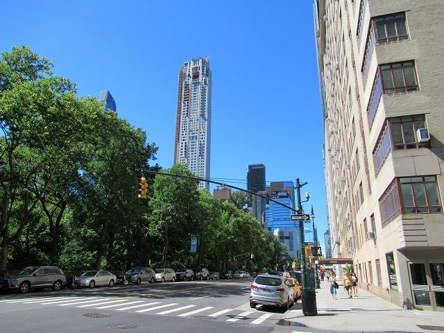 CentralPark Westの通りの風景