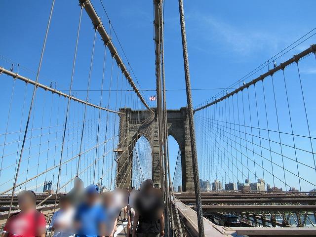 ブルックリンブリッジからブルックリン側の眺め