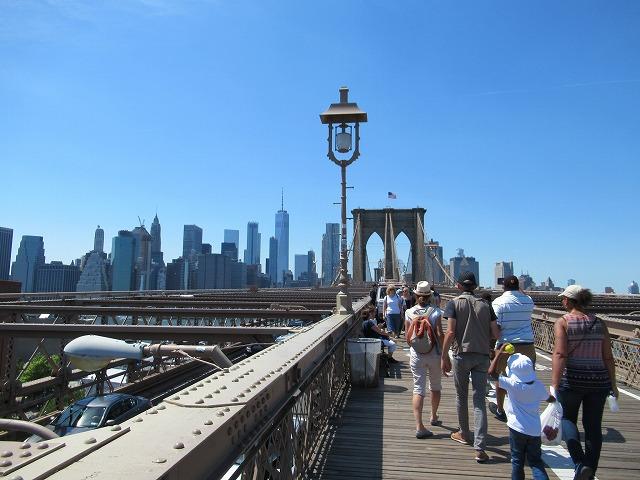 ブルックリンブリッジの歩道