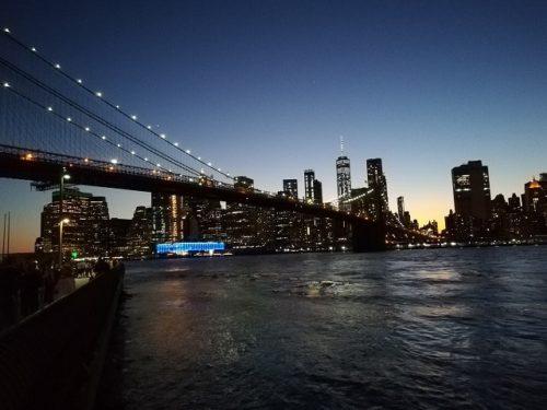 夕暮れのブルックリンブリッジ