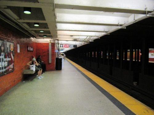 NYの地下鉄のホーム