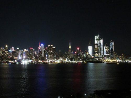 ハミルトンパークから見るマンハッタンの夜景