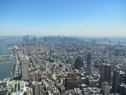 ワンワールド展望台から見えるミッドタウン方面