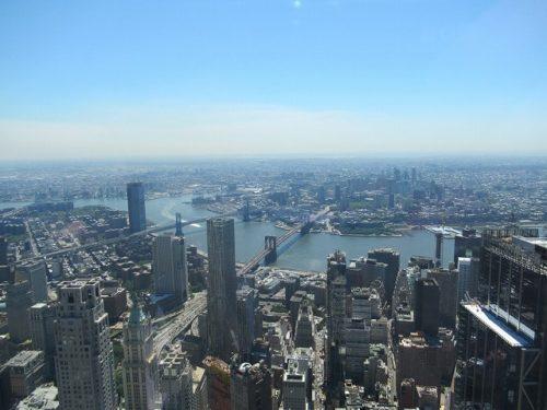 ワンワールド展望台から見えるブルックリン方面
