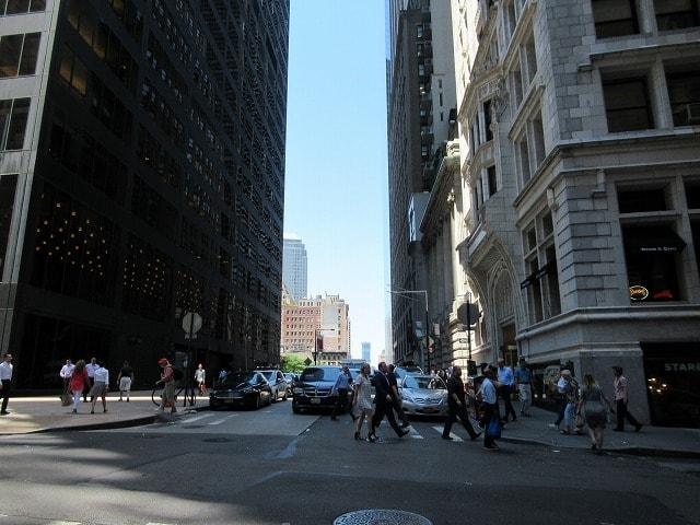 ウォール街エリアの日常風景