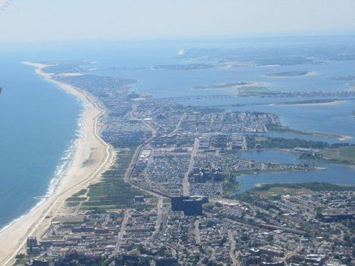 JFK空港離陸直後の景色