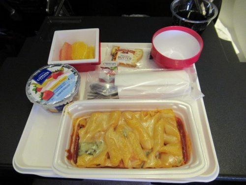 JALの機内食(JFK→羽田)