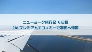 ニューヨーク旅行記 6日目:JALプレミアムエコノミーで羽田へ帰国